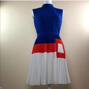 Vintage Mod Pleated Dress